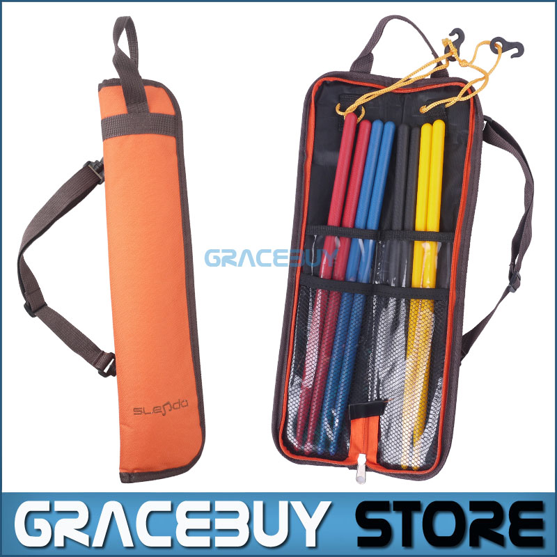 Drumstick Bag Waterproof Oxford Drum Dticks Shoulder Case Holder Orange Portable