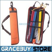Drumstick Bag Waterproof Oxford Drum Dticks Shoulder Case Holder Orange Portable  New