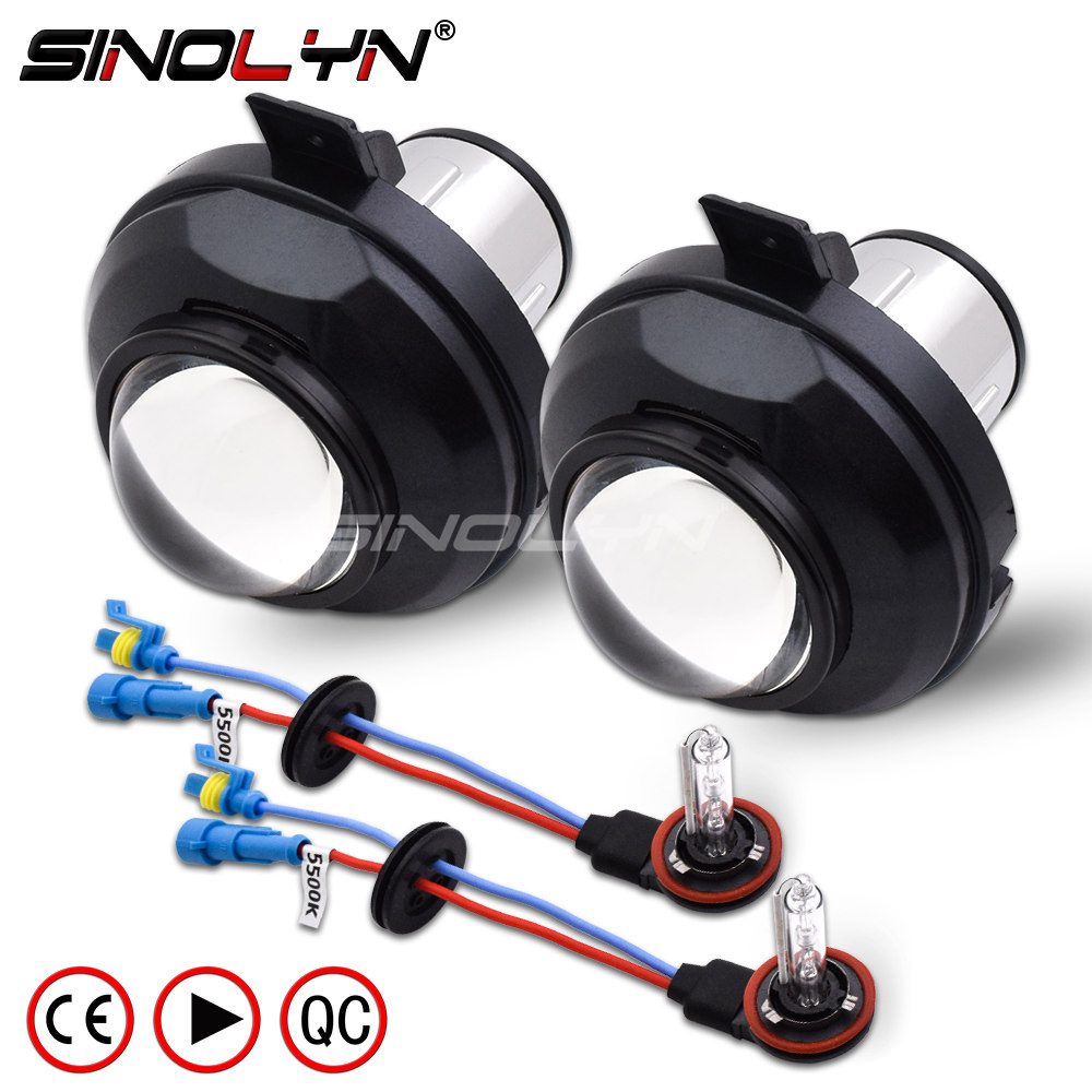 SINOLYN Waterproof HID Bixenon Fog lights Projector Lens Bifocal Driving Lamps Retrofit For Chevrolet Cruze Orlando
