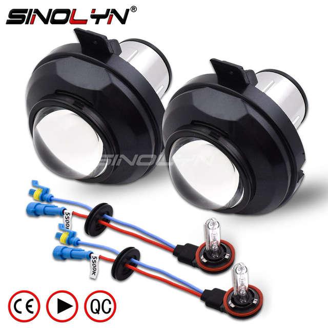 Online Shop Sinolyn Waterproof Hid Bixenon Fog Lights Projector Lens