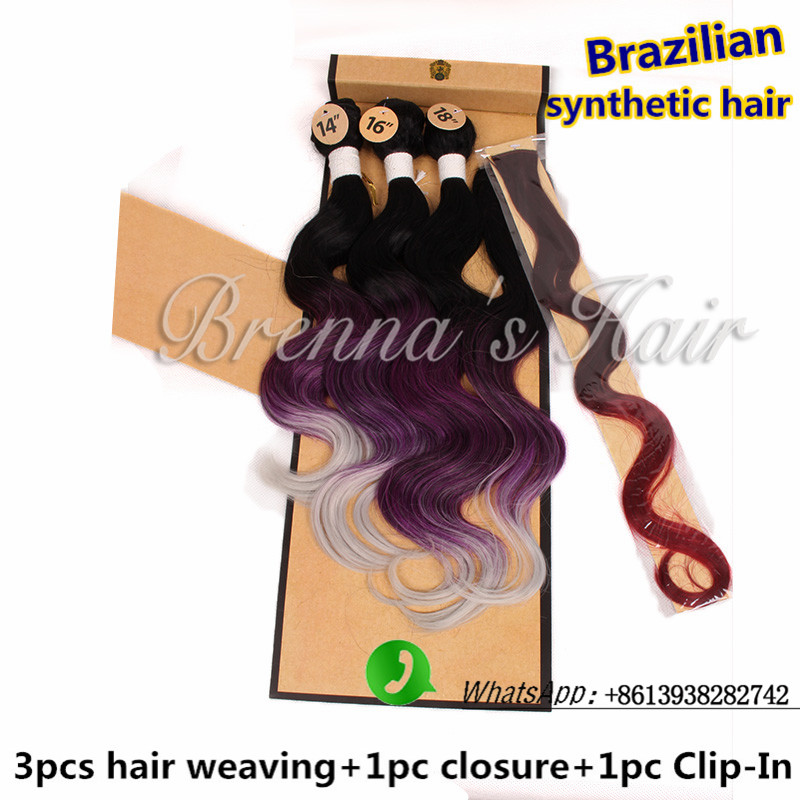 Cheap Synthetic Hair Weft Extensions Brazilian Hair Weave Bundles