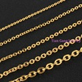 Hotsale Gold Plated Fashion Stainless Steel 2/2.4/3mm Oval Cross Chains.Jewelry Finding DIY Necklace in Bulk For Men Womens