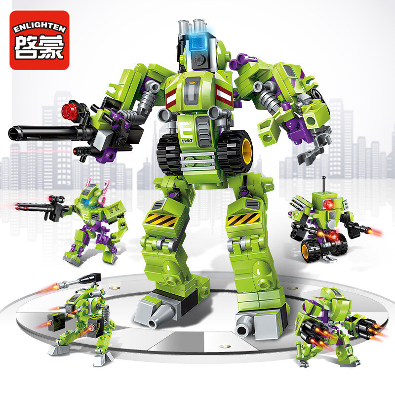 253Pcs 4 IN 1 Starwars Super Cool Mech Transformer Robot Creator Toy Building Blocks Sets LegoINGLs Bricks DIY Toys for Children