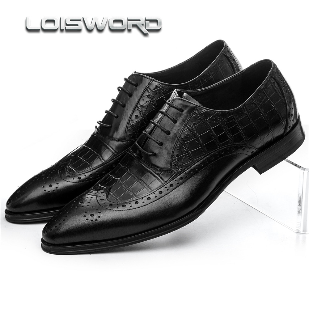 Fashion Brown tan / black serpentine oxfords shoes mens business shoes genuine leather dress shoes mens wedding shoes dxkzmcm men oxfords shoes black brown mens dress shoes genuine leather business shoes formal wedding shoes