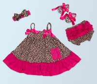 New 2017 Leopard Print Toddler Girl Clothing Set Baby Top Tutu Skirt Ruffle Bloomers Bow Headwear Zebra Shoes Suit Newborn Gifts