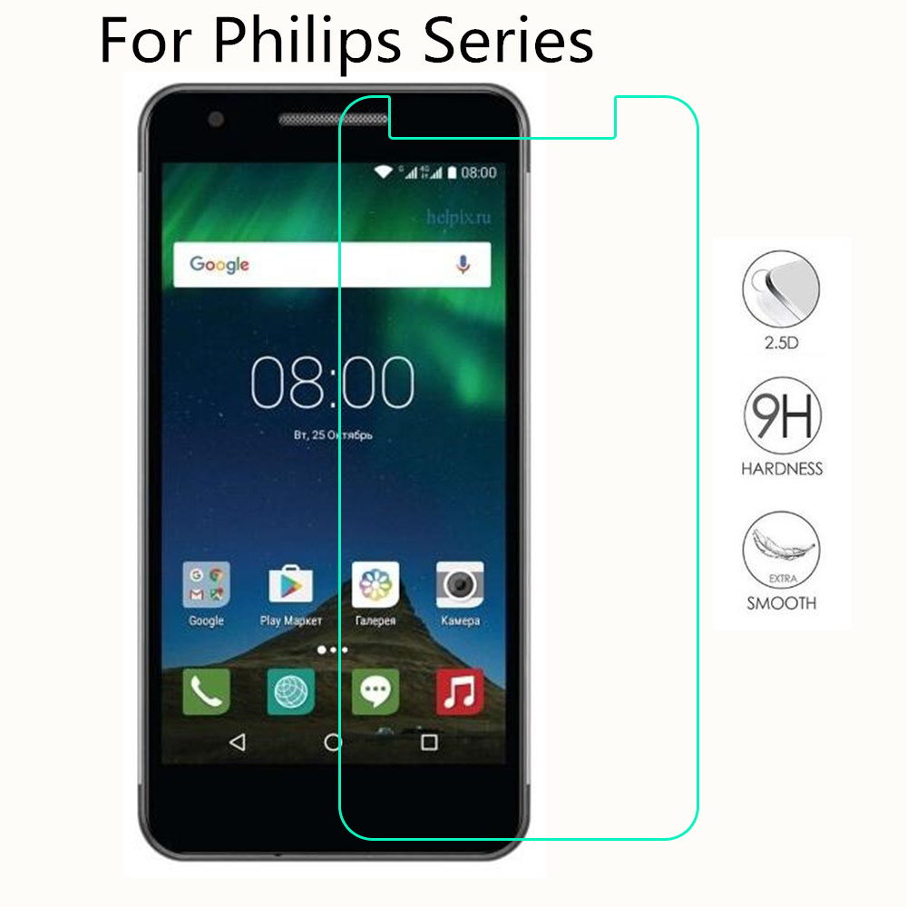Tempered Glass For <font><b>Philips</b></font> S318 <font><b>S326</b></font> S327 S260 Xenium X588 V377 V526 X818 <font><b>Screen</b></font> Protector Toughened Film image