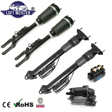 Air Suspension System Set fit for Mercedes W164 ML / GL Class 4pcs Air Struts with ADS & Air Suspension Compressor & Valve Block airmatic shock absorber air suspension for mercedes benz ml class w164 gl x164 with ads pair 1643206013 1643202731 1643202031