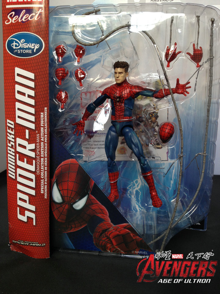 Marvel Select Superhero Anime Figure Amazing Spider Man Movie Spiderman Toy 18CM Ultra Action Figure Toys 18cm the amazing spider man action figure toys set super hero anime spiderman collectible model toy christmas gifts n049