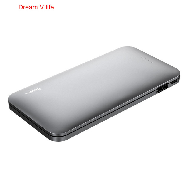 Baseus para galaxy series power bank 5000 mah batería externa portable del envío libre al por mayor venta caliente de calidad superior de enero 18