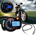 Universal Motocicleta Ajustável Velocímetro Digital LCD Odômetro Backlight digital Medidores de Painel Moto Tacômetro