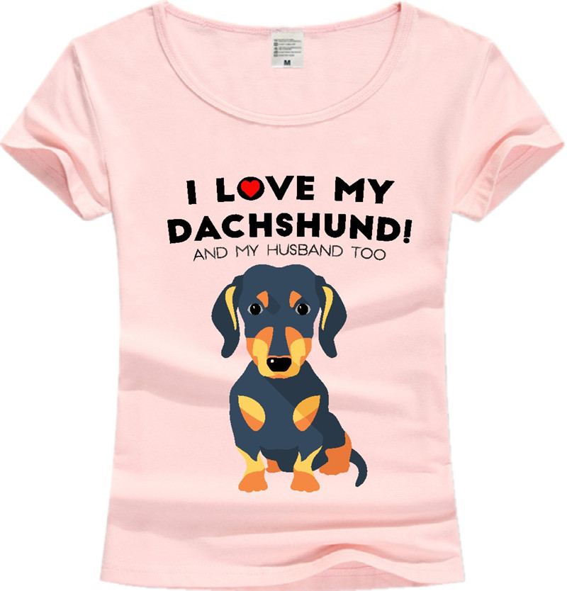 b67746b13 Trendy Melon Fashion Dachshund T shirt Men Funny Dog Cotton Lady Tops Short  Sleeve O Neck Tee Hipster White Blue Pink JD02-in T-Shirts from Women's  Clothing ...