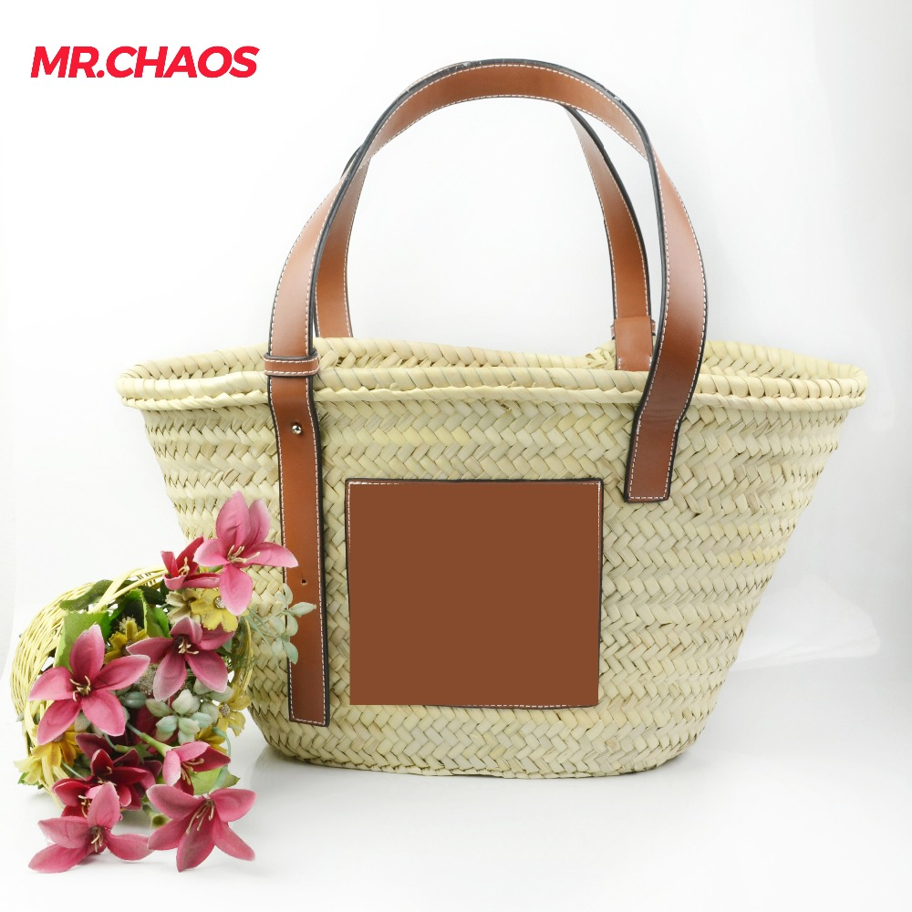 Bohemian Women Straw Beach Bags Large Ladies Handbag Summer Rattan Bag For femail 2018 Woven Handmade Travel Tote Bags Bolso rerekaxi new bohemian beach bag for women cute handmade straw bags summer grass handbags drawstring basket bag travel tote