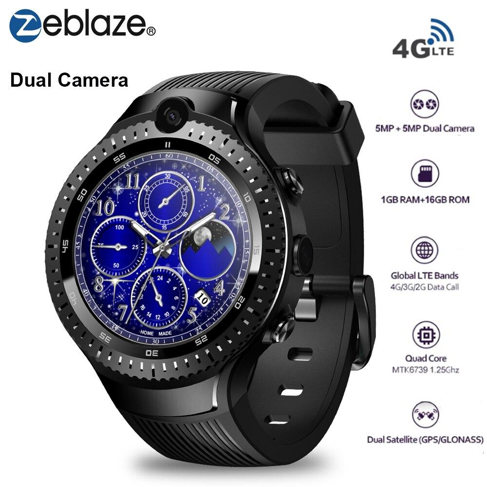 Zeblaze THOR 4 Dual 4G LTE Smart Watch 5.0MP+5.0MP Dual Camera 1GB+16GB GPS/GLONASS Nano SIM WiFi BT Smartwatch for iOS/Android