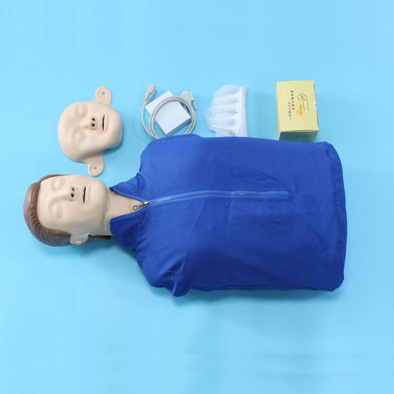 BIX/CPR260 Half body First Aid Training Model Advanced Bust CPR Manikins With Printer iso bust cpr model cpr model computer control cpr practice model cpr training dummies