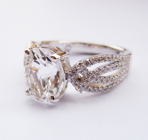 Wellmade Solid 925Sterling Silver Wedding Engagement Ring цена и фото