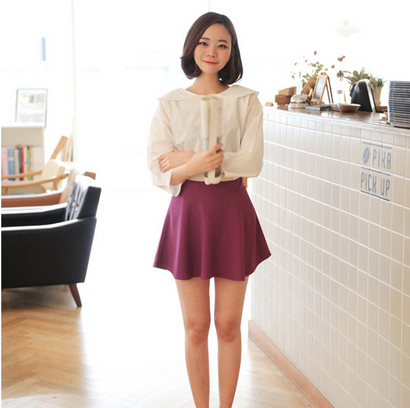 Womens neon skirts 11 colors 2014 high waist short mini Skirt ...