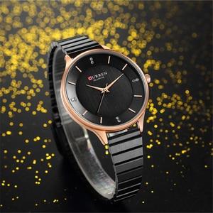 Image 3 - CURREN femme horloge argent Quartz femmes montres avec bracelet en acier inoxydable 9041 mode dames montre bracelet bayan kol saati