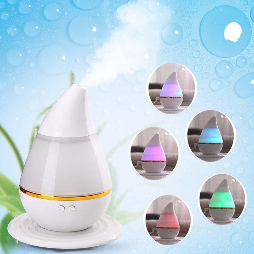 Yeni Renkli LED Ultrasonik Ev Aroma Nemlendirici Hava Difüzör Arıtma Ionizer Atomizer