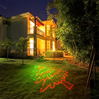 1x 8 Big Christmas Pattern Laser Projector Lights IP65 Outdoor Landscape Laser Lights Holiday Decorative Spot