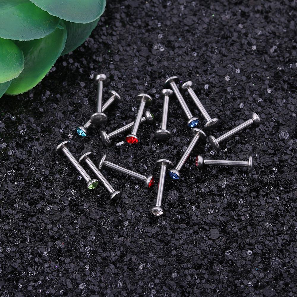 30 шт/лот кольцо для пирсинга губ из нержавеющей стали с резьбой