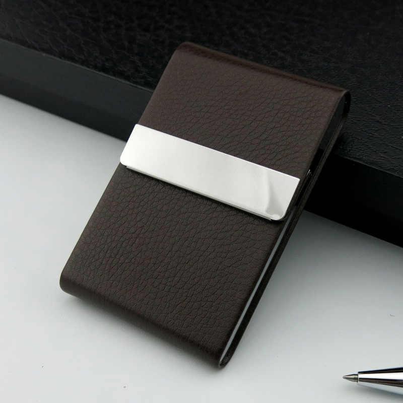 Алюминиевый портсигар чехол держатель для табака Карманный Ящик Контейнер для хранения из нержавеющей стали PU чехол для курения аксессуары