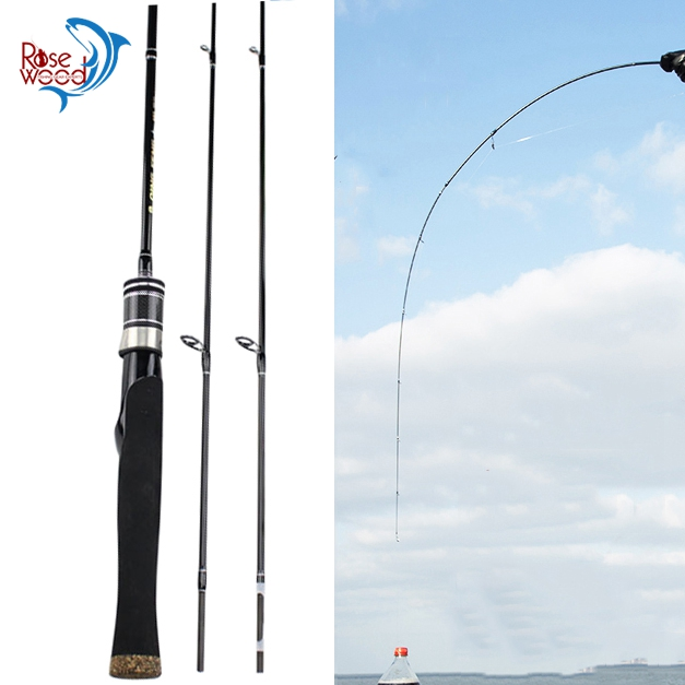RoseWood Spinning Casting UL/L 2 Tips 1.8m Ultralight Carbon Soft Fishing Rod 2-8g Lure Weight
