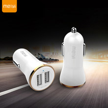 MEIYI 2 USB Car Charger 2.4A max(Real) Fast Charge Moblie Phone Fast Charging For Iphone X XR XS 6s 6 plus SE Samsung Xiaomi(China)