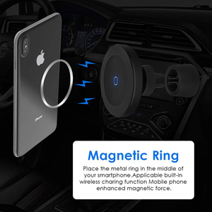 Image 4 - Cargador de coche inalámbrico de carga rápida QI, soporte magnético para teléfono de coche, 10W