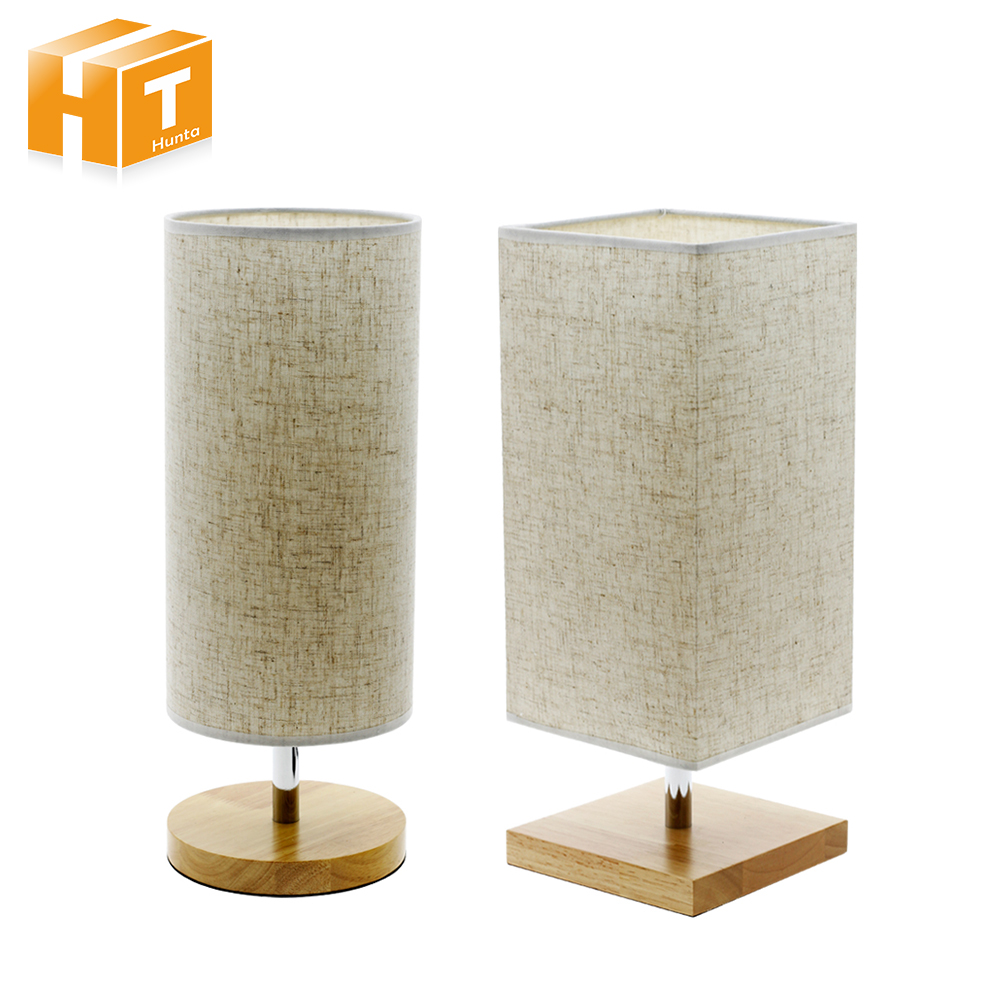 Wooden Table Lamp for Bedroom Round 220V Cloth Fabric Table Lamp Bedside Desk Lamp Home/Hotel Deco Lighting with E27 5W LED Bulb стоимость