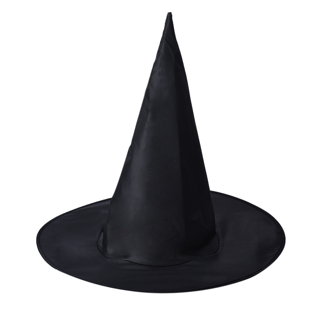 2018 1Pcs Adult Womens Black Witch Hat For Halloween Costume Accessory  Oxford fabric  Black Witch's point hat 1a16
