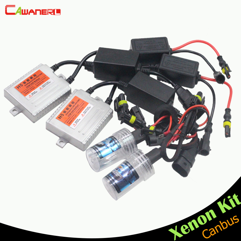 Cawanerl 55W Car Canbus HID Kit AC 10000K Blue Xenon Ballast Bulb Headlight Fog Light H1 H3 H7 H8 H9 H11 9005 9006 HB4 880 881