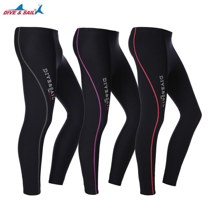 1.5MM Men Women Neoprene Wetsuit warm Swimming Surfing Scuba Diving pants Snorkeling Anti-UV Ankle-Length Warm Long Pants tight