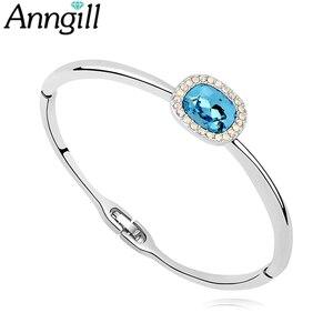Высокое качество подлинный кристалл от Swarovski браслет и роскошные ювелирные изделия женский модный подарок
