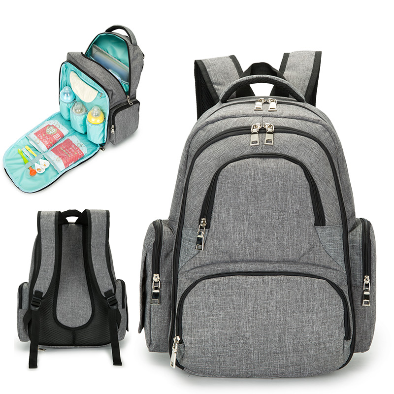 Diaper Bags Nappy Changing Bag With Pad and Warmer Large Capacity Baby Travel Backpack Multifunction Mummy Maternity Nursing Bag 2in1 portable baby travel bag and carrycot outdoor folding bassinet baby crib diaper nappy changing bag mummy handbag