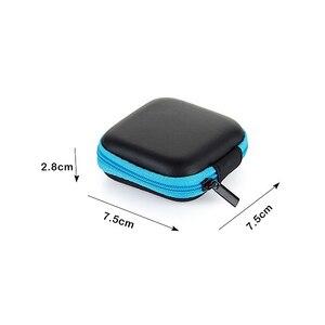 Image 4 - 23 kleuren Draagbare Case voor Case Hoofdtelefoon Mini Ritssluiting Ronde Opslag Hard Bag Headset Doos voor Oortelefoon Geval SD TF kaarten