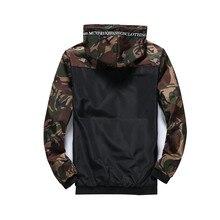 TJWLKJ Мужская камуфляжная куртка в стиле милитари Мужская толстовка с капюшоном с капюшоном Повседн