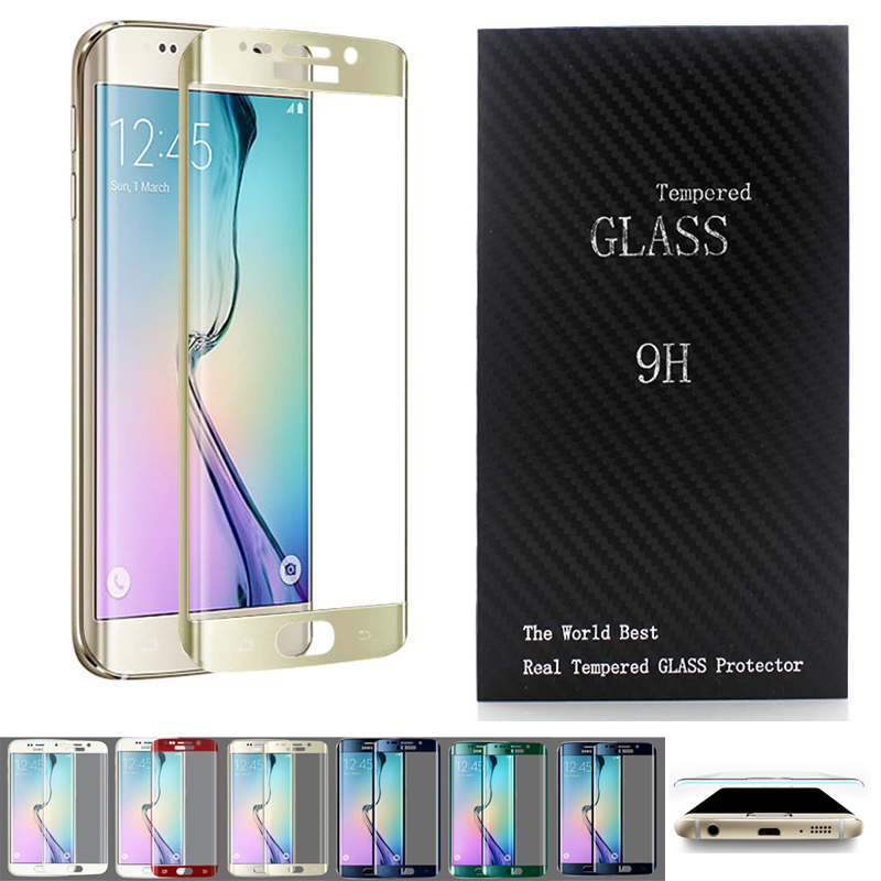 Electroplating 3D Curved Front Full Coverage Tempered Glass Screen Protector For Samsung Galaxy S6 Edge G9250 W/ Retail Package