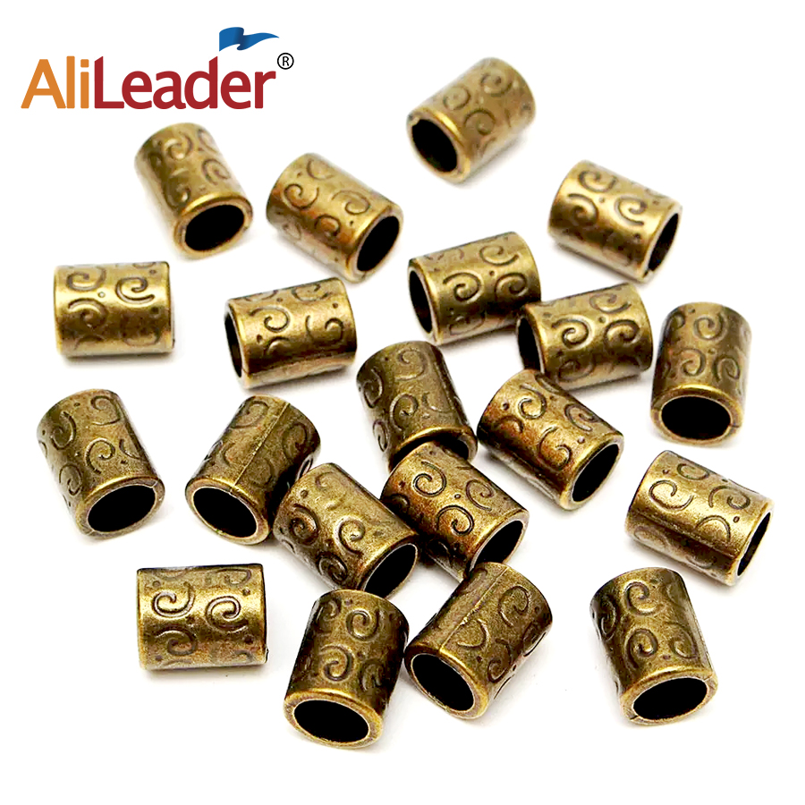10pcs/20pcs Copper Metal Hair Ring Kralen Ring Metal Hair Accessories For Braids Kids Hair Beads Dreadlock Dread Beads