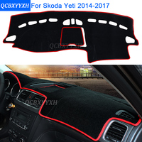 Car Styling Dashboard Protective Mat Shade Cushion Photo Phobism Pad Interior Carpet For Skoda Yeti 2014