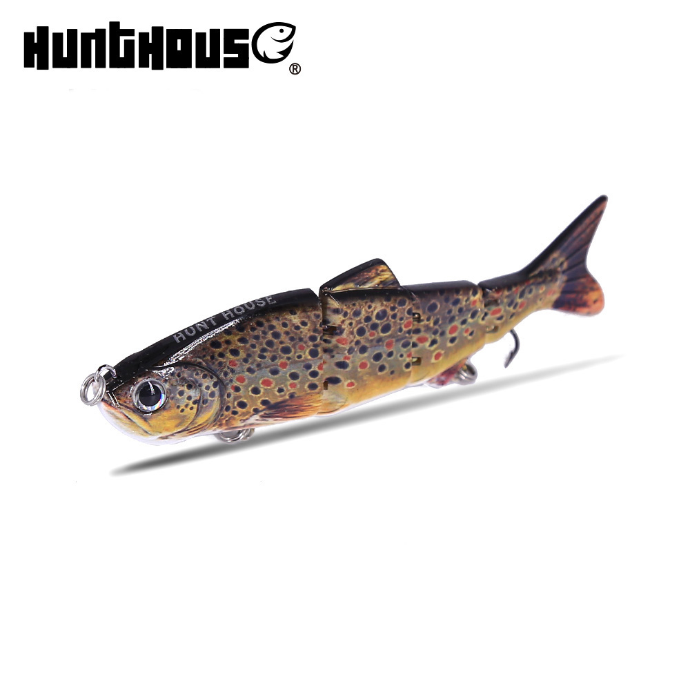 3D Eyes 12cm multi section Lead Fishing Lures Fishing Lure 2 Hook Baits artificial bait wobblers rubber