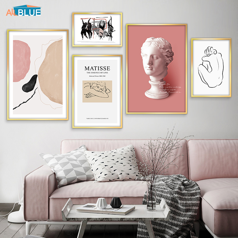 Minimalist Nordic Poster Abstract Geometry Graphic Venus Plaster Matisse Wall Art Canvas Painting Pictures For Living Room Decor