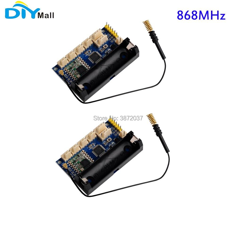 2pcs/lot DIYmall LoRa Radio Node V1.0 868MHz RFM95 SX1276 for Arduino ATmega328P 3.7 12V uFL Antenna