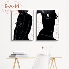 Naked Woman Minimalist Canvas Art Print Painting Poster Wall Pictures For Living Room Decor Home Decoration No Frame