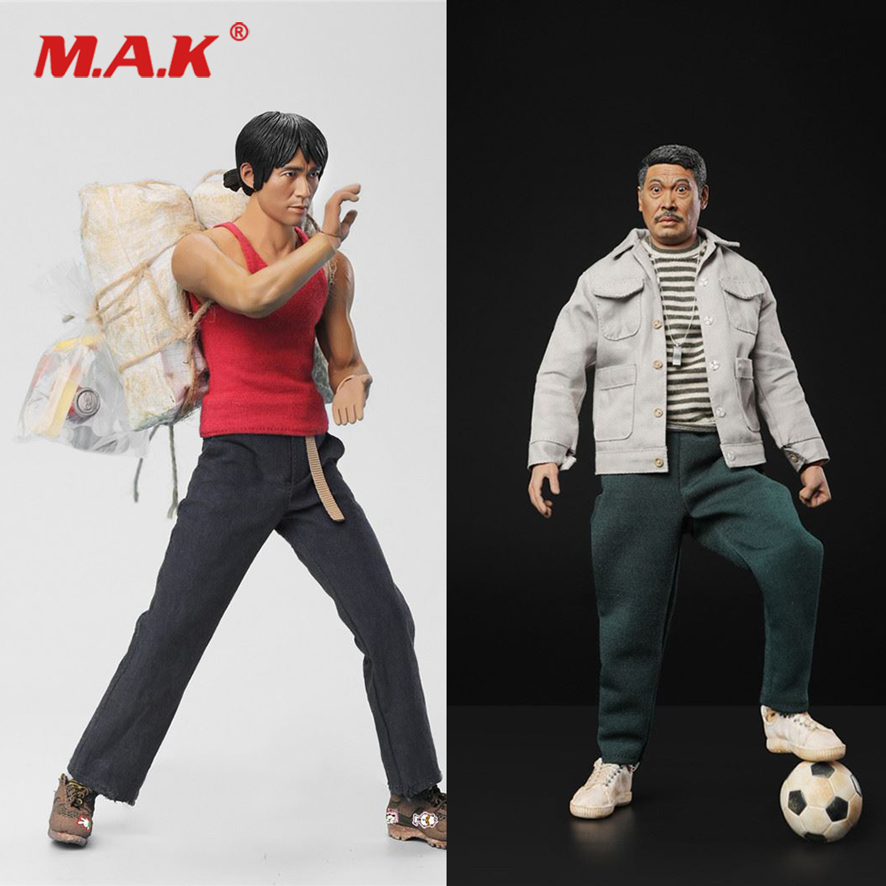 1/6 Scale Shaolin Soccer Mighty Steel Leg Sing Stephen Chow/Gold Right Foot Wu Mengda Uncle Full Set Action Figure for Fans Gift1/6 Scale Shaolin Soccer Mighty Steel Leg Sing Stephen Chow/Gold Right Foot Wu Mengda Uncle Full Set Action Figure for Fans Gift