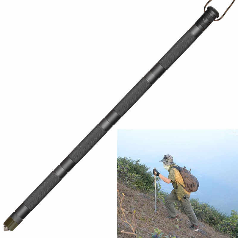 Walking Hiking Trekking Poles Multifunction Sticks Outdoor Camping EDC Tools
