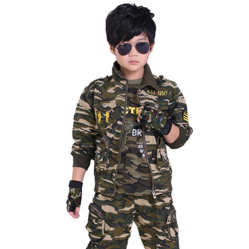 Scout Camouflage Scouting Uniforms for Outdoors Big Boys Sport Men's Suits, Coats With Pants Two Sets of Clothing