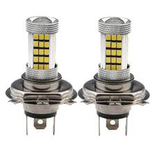 2 шт h4 9003 светодиодные противотуманные фары лампа 2835 66smd