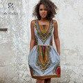 2016 лето горячий продавать африканский dashiki dress африканских одежды желтой Африканской Печати Dashiki Dress