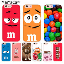 MaiYaCa cute pink M&M's Chocolate Candy High Quality phone cover for iphone 11 pro 8 7 66S Plus X 10 5S SE XR XS XS MAX(China)