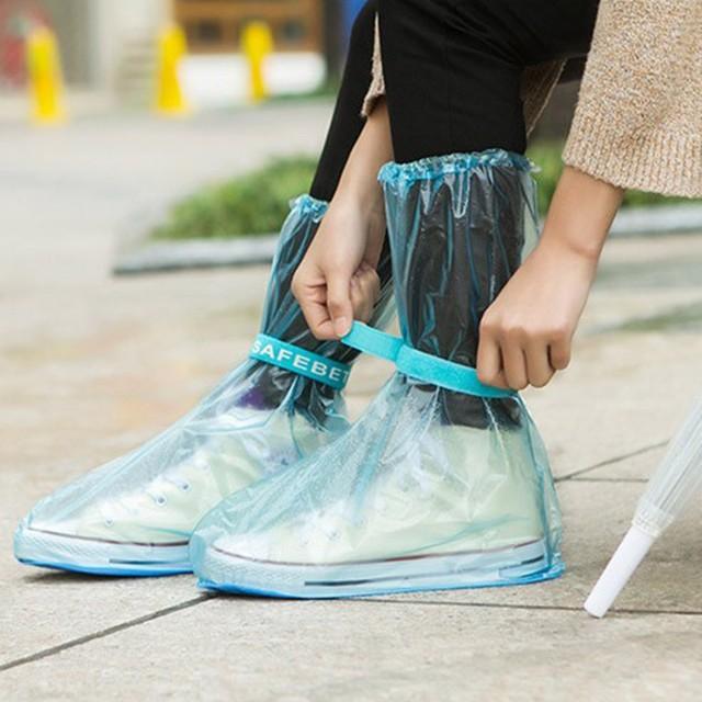 d94273099 Antiskid Waterproof Reusable Raincoat Set Rain Shoe Boots Cover Overshoes Rain  Coat Long Style